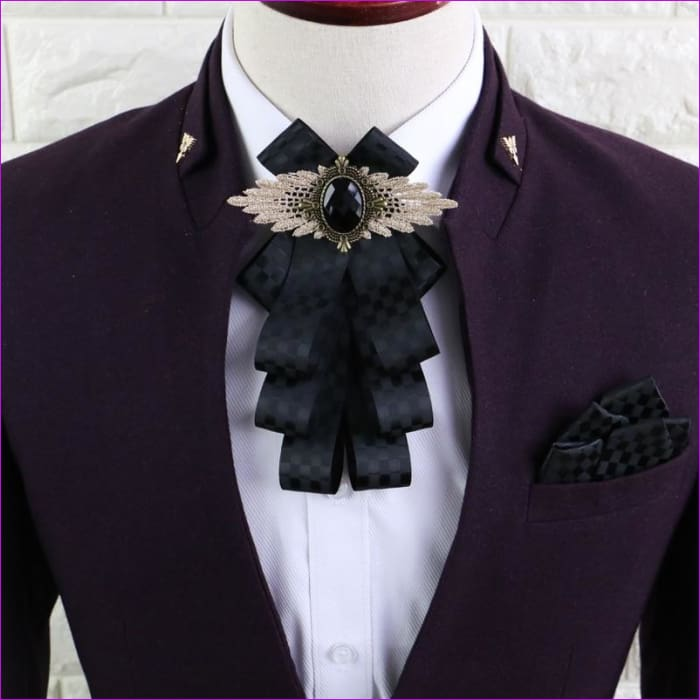 Flower Rhinestone Cloth Art Pins And Brooches Mens Clothing & Accessories Shirt Collar - Tuxedo Shirts Tuxedo Shirts