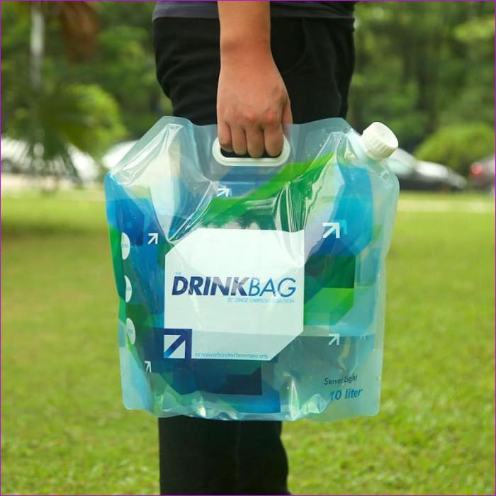 Folding Collapsible Drinking Water Bag 10L Outdoor Foldable Water Carrier