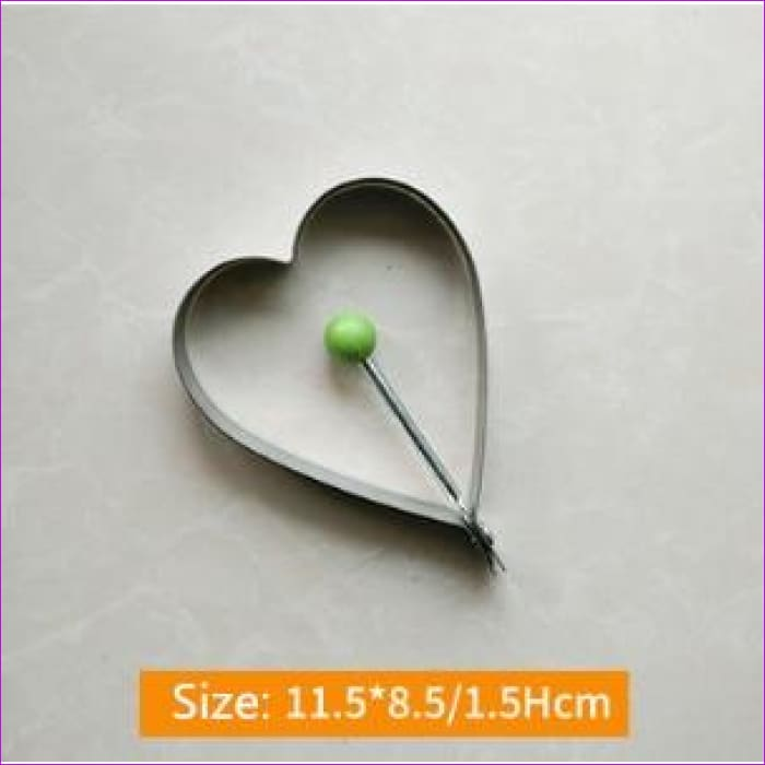 Fried Egg Mold Pancake 1Pcs Stainless Steel Kitchen Gadgets Shape - Heart - Kitchen