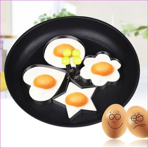 Fried Egg Mold Pancake 1Pcs Stainless Steel Kitchen Gadgets Shape - Kitchen