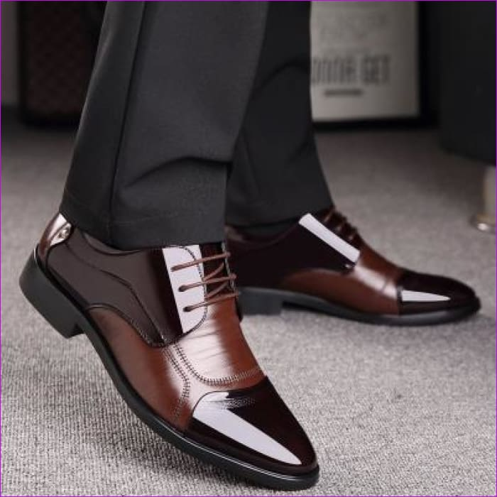 Genuine Leather Men Oxford Shoes Lace Up Casual Business Men Wedding - 2017 Brown / 6 - Mens Shoes cf-color-black cf-color-brown Mens Shoes