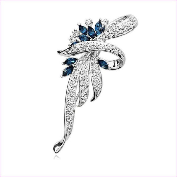 H:HYDE Hot 2017 Crystal Flower Brooch Lapel Pin Fashion Rhinestone Jewelry Women Wedding Hijab Pins Large Brooches For Women - Brooch Brooch