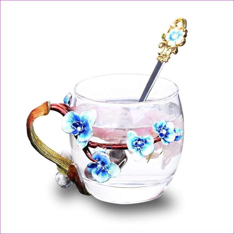 High-grade heat-resistant glass Flower cup Euclid Enamel cup lovers - Drinkware