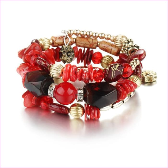 IF ME Bohemian Geometric Multilayer Charm Bracelets for Women Beads Bracelets & Bangles Statement Party Ethnic Jewelry Gift - BJDY53710 -