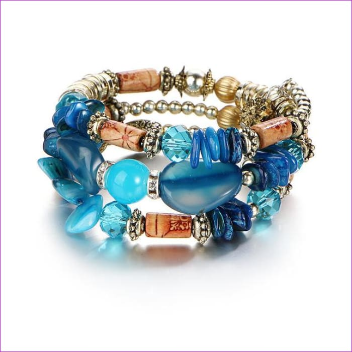 IF ME Bohemian Geometric Multilayer Charm Bracelets for Women Beads Bracelets & Bangles Statement Party Ethnic Jewelry Gift - BJDY57630 -