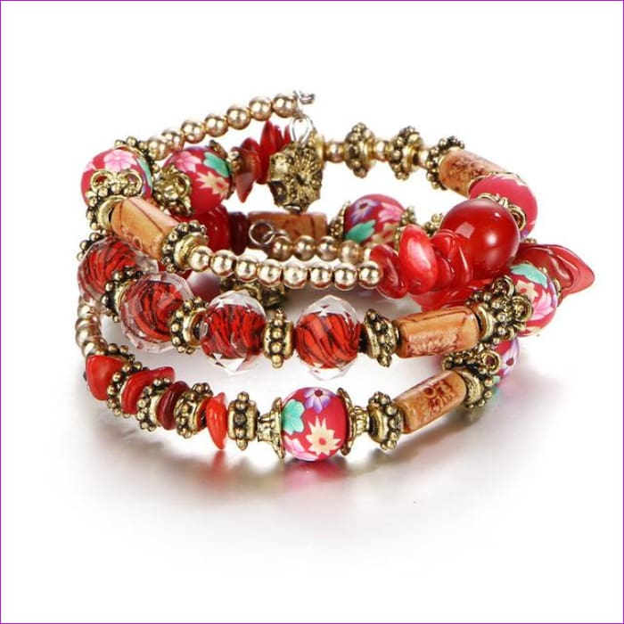 IF ME Bohemian Geometric Multilayer Charm Bracelets for Women Beads Bracelets & Bangles Statement Party Ethnic Jewelry Gift - BJDY57710 -