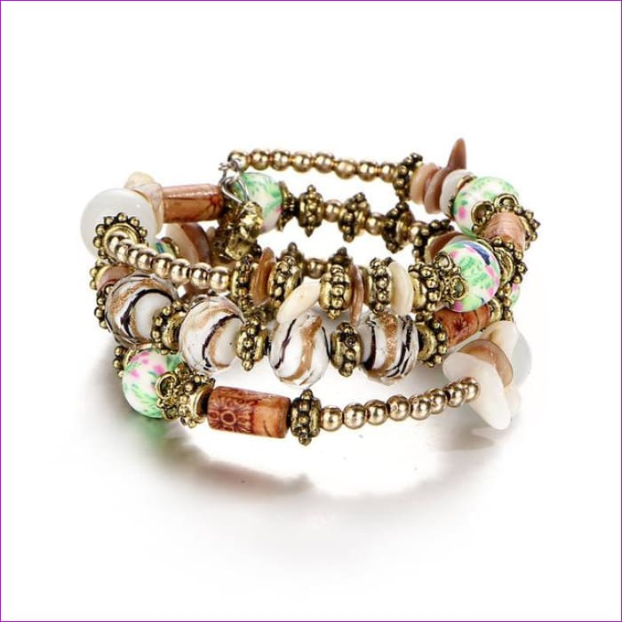 IF ME Bohemian Geometric Multilayer Charm Bracelets for Women Beads Bracelets & Bangles Statement Party Ethnic Jewelry Gift - BJDY57720 -