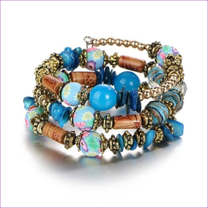 IF ME Bohemian Geometric Multilayer Charm Bracelets for Women Beads Bracelets & Bangles Statement Party Ethnic Jewelry Gift - BJDY57730 -
