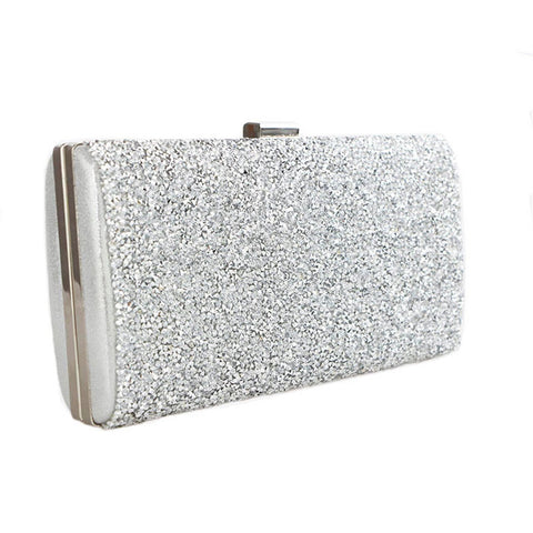 Geometric Metal Clutches Purse Bling Bag Gold - Silver - Black  Chain Shoulder Bag