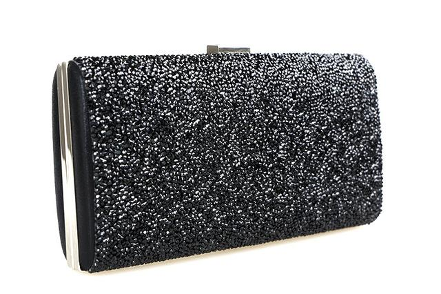 Black - Silver Wedding Diamond Rhinestone Clutches Crystal Bling Gold Clutch Bag - black - Purses cf-color-black cf-color-gold