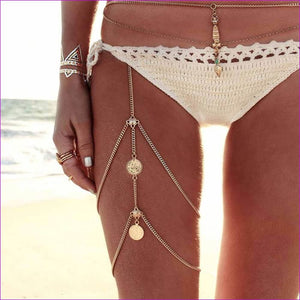 KISS WIFE Leg chains boho anklet body jewelry gold silver color anklets for women leg chains new body jewelry - Body Jewelry Body Jewelry