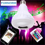 LED Speaker Color-changing Wireless Bluetooth Music Bulb Light Loudspeaker - Wireless Electronics