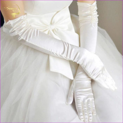 Liturgy Gloves Bridal Gloves Banquet Gloves Meters White Red Black - Bridal Gloves Bridal Gloves cf-color-beige cf-color-white