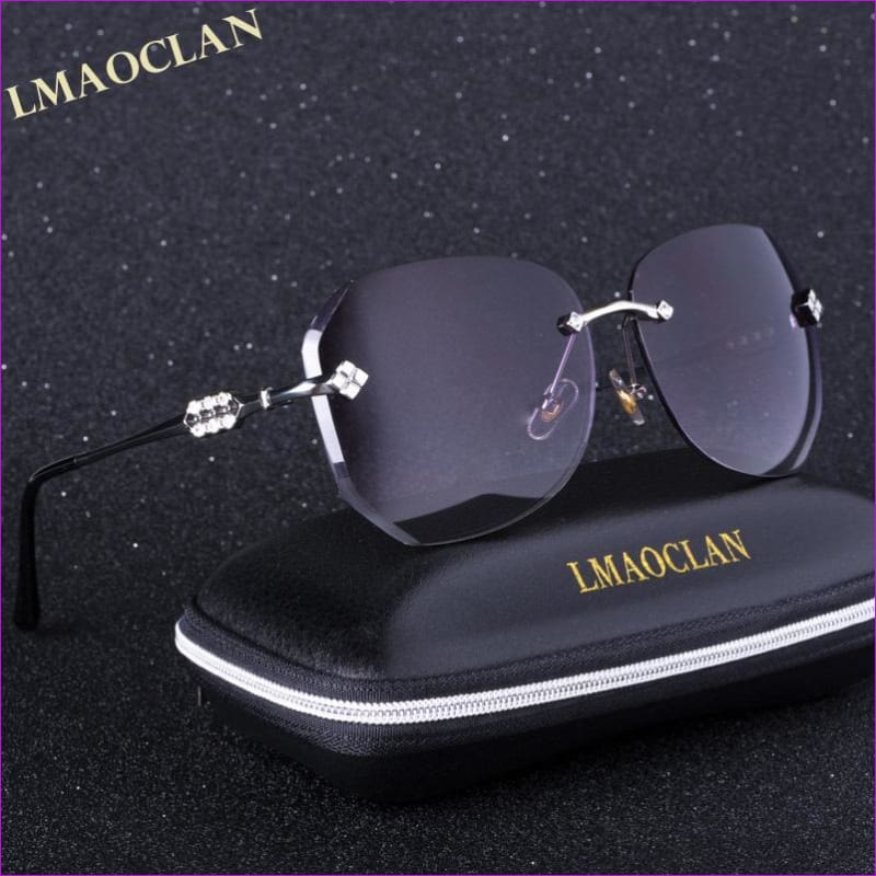 LMAOCLAN 2018 Luxury Brand Design Gradient HD Sunglasses Women Ladies Rimless Sun Glasses Female Prismatic Eyewear - Sun Glasses