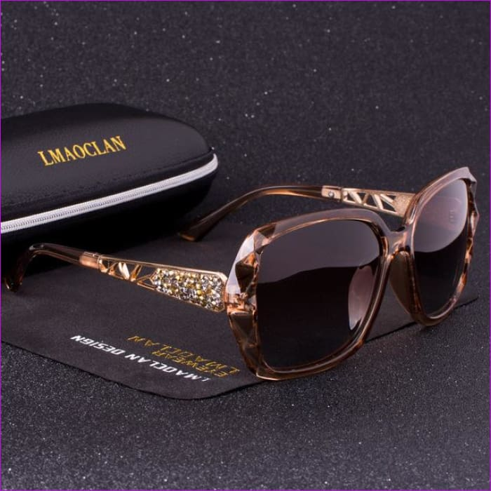 1b0baa531c1 LMAOCLAN Brand Luxury Design HD Polarized Sunglasses Women Ladies Oversized  Sun Glasses Female Eyewear Oculos UV400