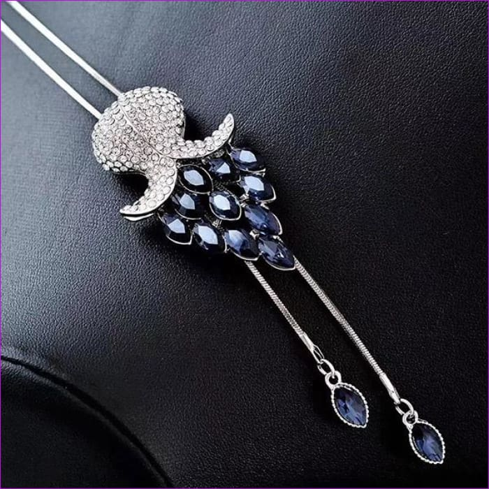 Long Necklaces & Pendants for Women Collier Femme Geometric Statement Crystal Jewelry - flower - Pendants Pendants