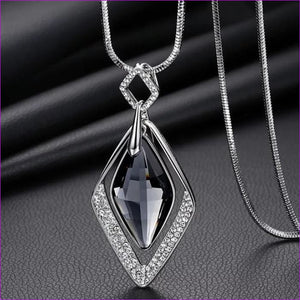 Long Necklaces & Pendants for Women Collier Femme Geometric Statement Crystal Jewelry - Rhombus - Pendants Pendants