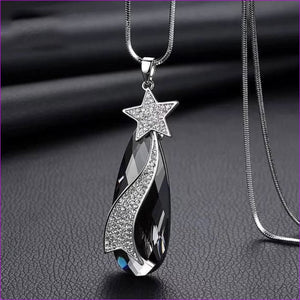 Long Necklaces & Pendants for Women Collier Femme Geometric Statement Crystal Jewelry - Star drop - Pendants Pendants