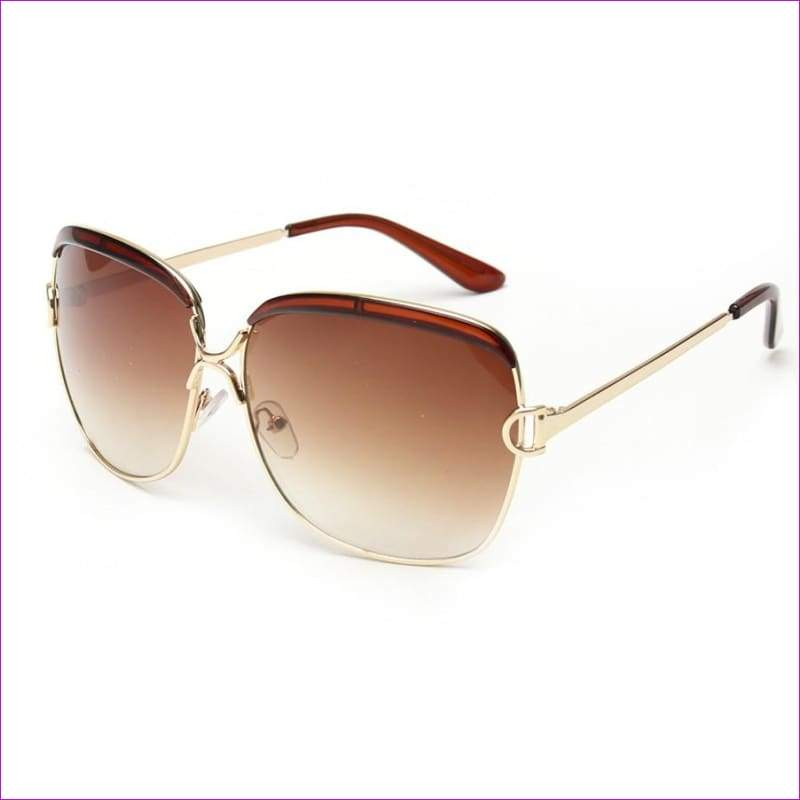 Luxury D frame Shades Glasses gradient lenses sunglasses Designer Sunglasses - Brown - Sun Glasses