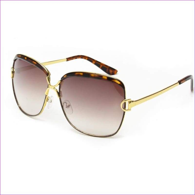 Luxury D frame Shades Glasses gradient lenses sunglasses Designer Sunglasses - Leopard - Sun Glasses