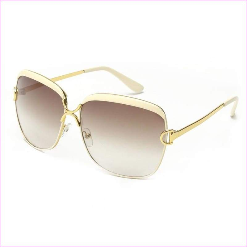 Luxury D frame Shades Glasses gradient lenses sunglasses Designer Sunglasses - white - Sun Glasses
