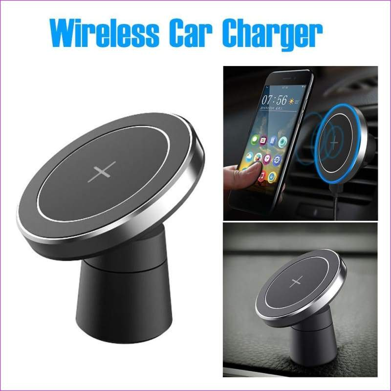 Magnetic Mount Holder For Samsung S8 Note 8 iPhone 8 / X Qi Wireless Car Charger - Wireless Electronics