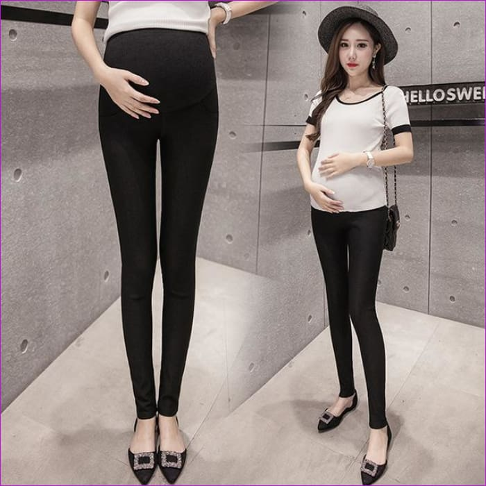 b4351a4a88f43 Maternity Pencil Pants for pregnant Skinny leg pregnancy clothes maternity  clothes clothing leggings for pregnant winter