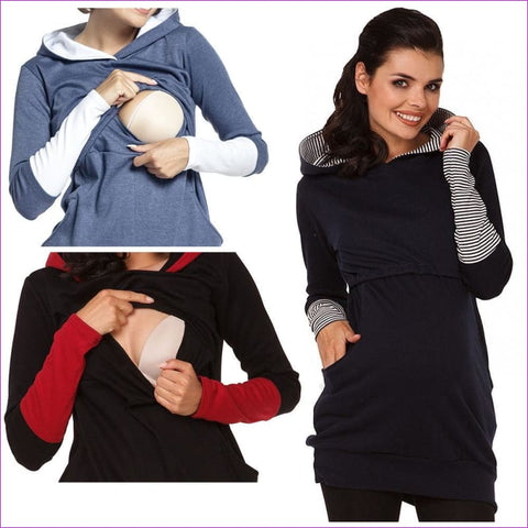 b36d42b3c593f Women Nursing Long Sleeve Breastfeeding Hoodie Top Pullover Casual  Sweatshirts. 1 review. $55.00. $91.89. Newly Plus Size Pregnant Clothes ...