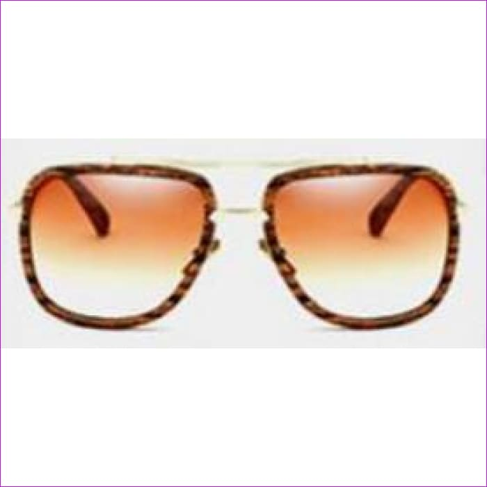 MERRYS Fashion Men Sunglasses Classic Women Brand Designer Metal Square Sun glasses UV400 - C07 Wood - Mens Sunglasses Mens Sunglasses