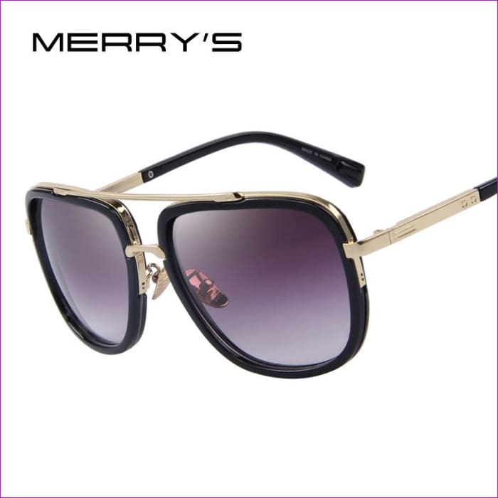 MERRYS Fashion Men Sunglasses Classic Women Brand Designer Metal Square Sun glasses UV400 - Mens Sunglasses Mens Sunglasses