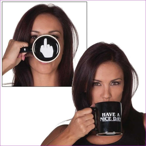 Middle Finger Funny Cup for Coffee Milk Tea Creative Have a Nice Day Coffee Mug Cups - Drinkware Drinkware