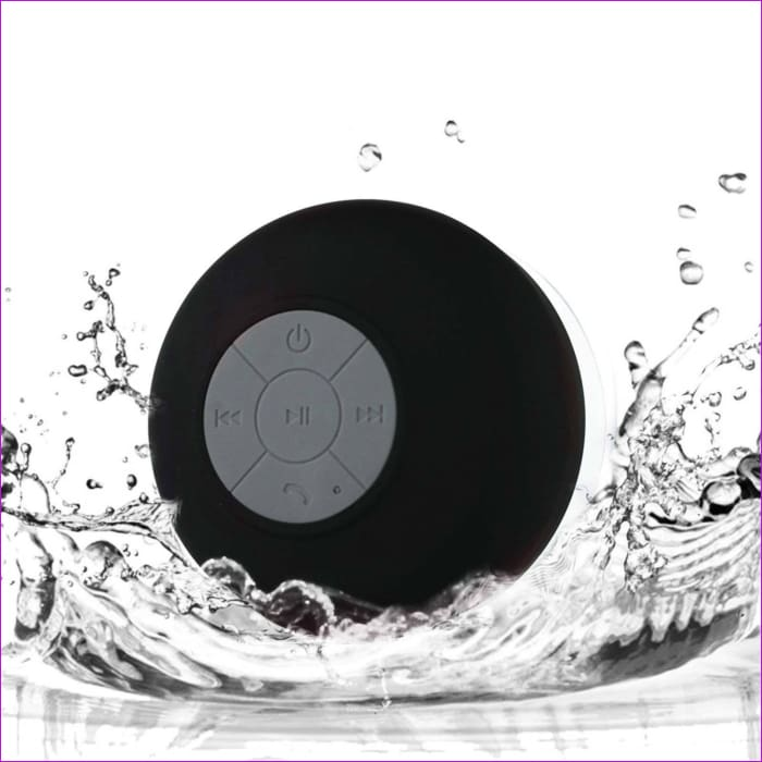 Mini Wireless Bluetooth Speaker Waterproof Shower Speaker Handsfree Portable Speakerphone with Suction Cup - Black - Wireless Electronics