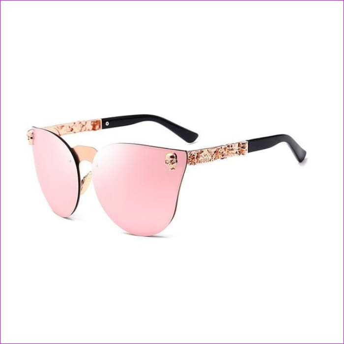 Mirror Tinted Cat Eye Mirror Sunglasses Retro Shades UV400 - Pink Mirror - Sun Glasses Sun Glasses