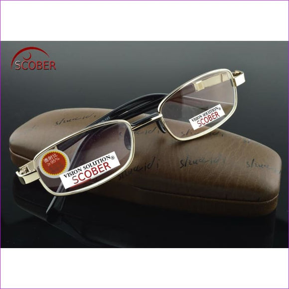 Natural Crystal Multi-Coated Lens Full-Rim Nickel Alloy Reading Glasses +1 to +4 - Reading Glasses Reading Glasses