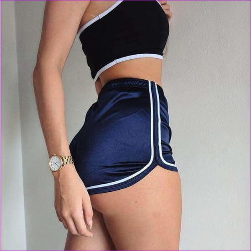 New 2017 Women Shorts Summer Silk Slim Beach Casual White Egde Shorts Hot - Navy / L - Shorts cf-color-black cf-color-burgundy cf-color-gray