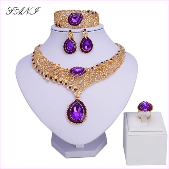 Nigerian Wedding Jewelry set gold color Jewelry set design - Jewelry Sets Jewelry Sets