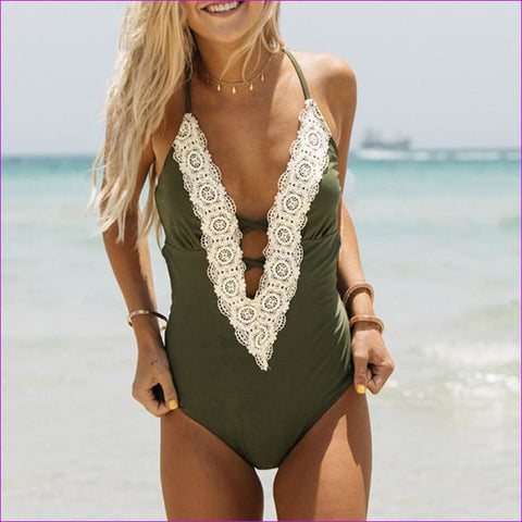 Home 2018 Soild Patchwork Yellow Pink Monokini Swimsuit Backless Swimwear Mesh One Piece Bodysuit Rose Red One Piece Bathing Suit