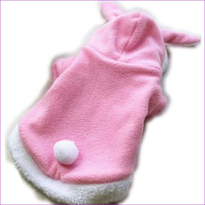 Pet Cat Clothes Costume Clothes For Pet Hoodies Cute Rabbit Cat Clothing Puppy Fleece Warm Pet Cat Jacket Outfit 30 H - Pink / L - Cats Cats