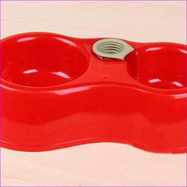 Pet Dog Cat Automatic Water Dispenser Food Dish Bowl Feeder Dubbele Schaal Huisdieren Bebedero Gato Cat Bowl - Red / S - Pets