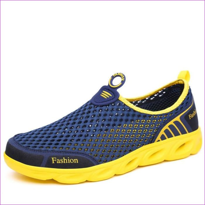 PINSEN Casual Shoes Woman Slip-On Platform Flats Female Breathable - Navy Blue / 5.5 - Walking Shoes Casual Shoes cf-color-dark-gray