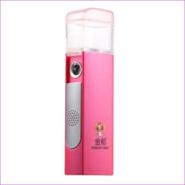 Portable Mister Face Spray Mini Sprayer Nebulizer Hydrating Skin Care - Pink color - Health