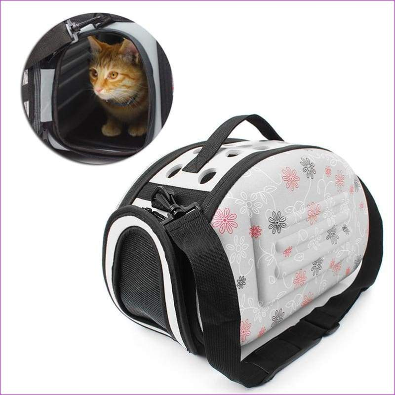 Portable Pet Small Dog Cat Sided Carrier Travel Tote Shoulder Bag Cage Kennel - Pets
