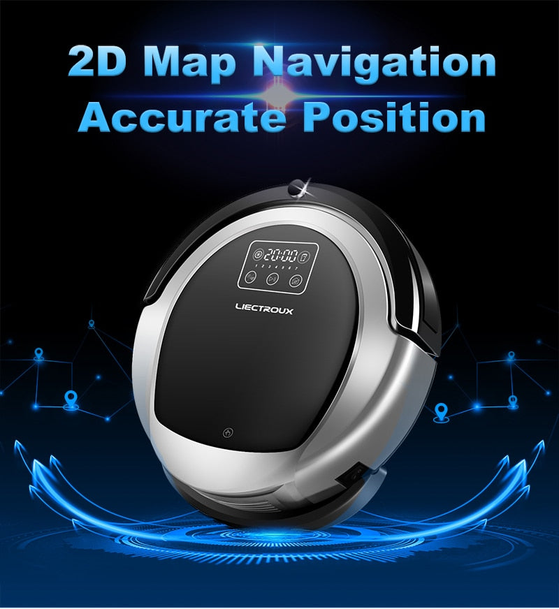 Robot Vacuum Cleaner Lung Support  Removes 97% COPD Cat Dander Smart Navigation
