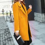 Women's Winter Coat Wool Coat Blue, Red, Coats Jacket Outwear Autumn Winter