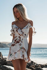Evening Beach Short Mini Sundress Women Polyester Empire V-neck Sleeveless Dresses