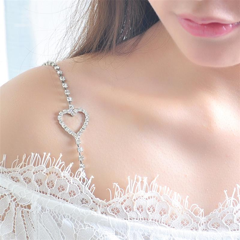 Bling Crystal Rhinestone Adjustable Removable Bra Strap Dual-Chain