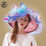 Kentucky Derby Hat For Women Wide Sun Hats Flowers Wedding Church Party
