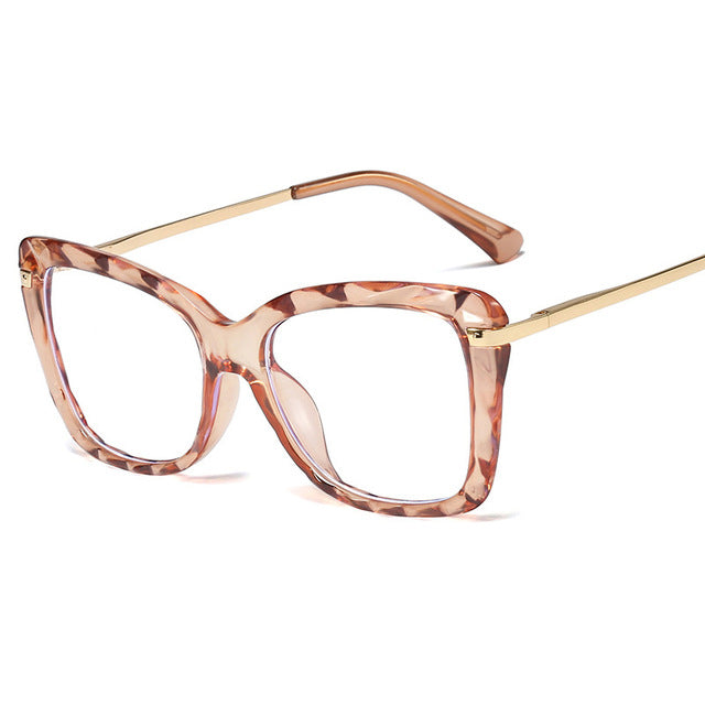 Transparent Cat Eye Glass Frame Luxury Reading Glasses shades Eyewear