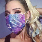 Sparkling Black Colorful Rhinestone Bling Mask for Women