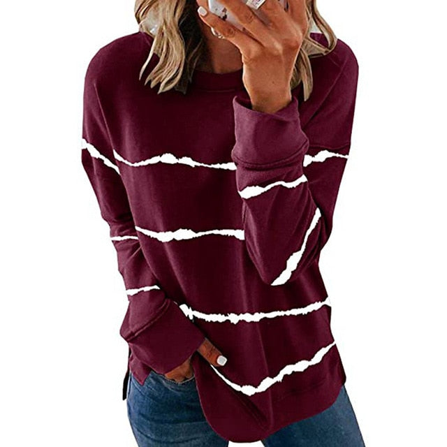 2020 New Autumn Tops Casual Long Sleeve Oversized